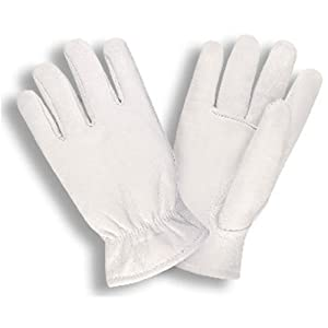 G & F 3031L Premium Goatskin Leather Winter Gloves, Rayon Lining, Large, 1-Pair