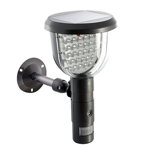 Bw Technologies DVR Kamera mit Solar PIR-Bewegungsmelder mit Videoaufzeichnung, Schwarz