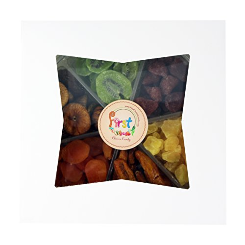 Dried fruit deluxe gift tray 6 section collection of for First choice collections