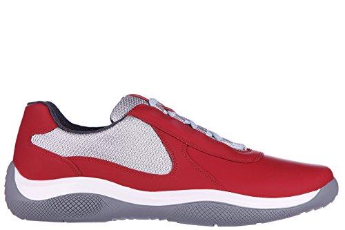 Prada scarpe sneakers uomo in pelle nuove nevada rosso EU 41 4E2905_1O1G_F0011