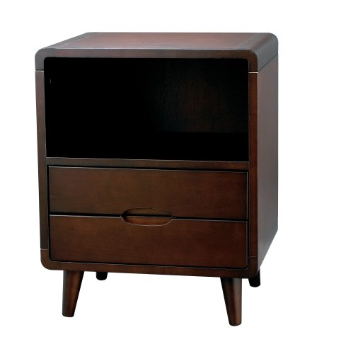 Buy low price end side table with drawers portland dark for Cheap modern end tables