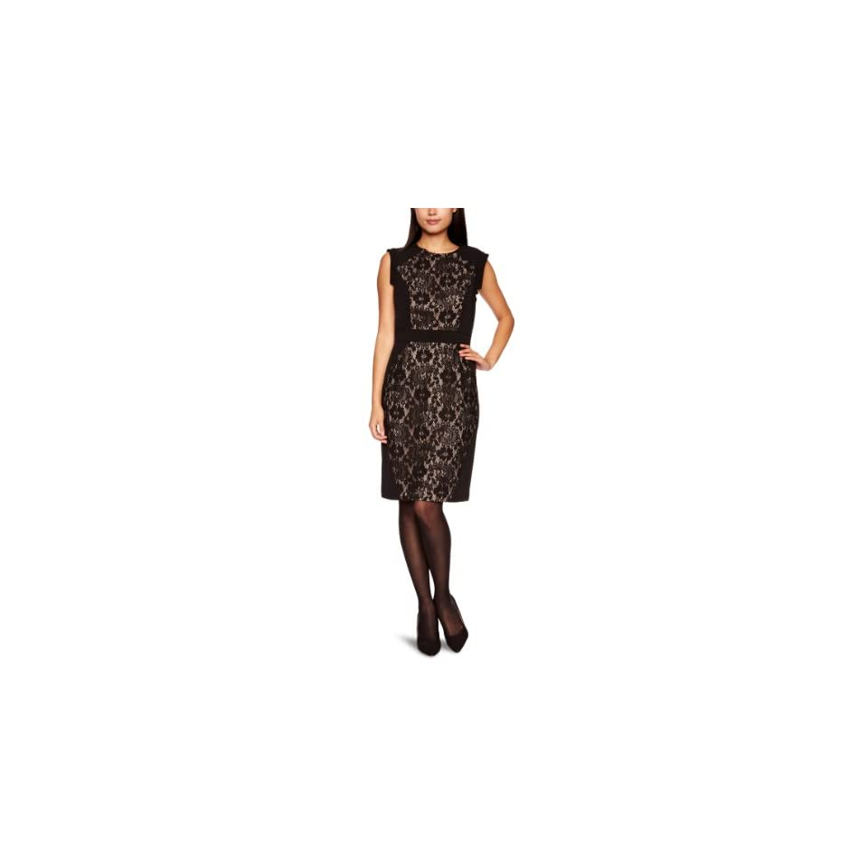 Adrianna Papell Womens Lace Blocked Dress