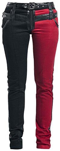 Heartless Asylum Pant Pantaloni donna nero/rosso W29L32