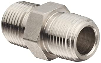 Brennan Stainless Steel Pipe Fitting, Hex Nipple, NPT Male