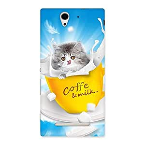 Kitty Coffee Back Case Cover for Sony Xperia C3