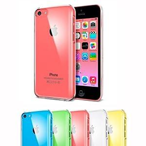 iBroz® - Housse Coque iPhone 5C Premium Transparente Ultra Fine (semi rigide - chocs absorption)