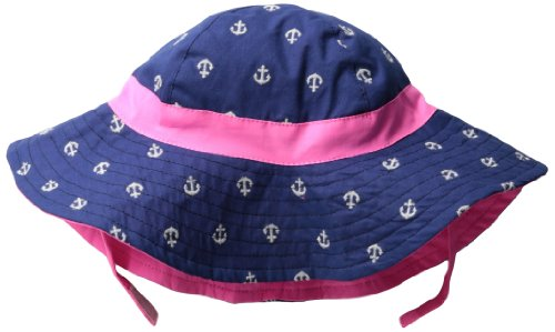 Carters Baby-Girls Infant Sunhat With Spf-Uv 50 Sun Protection, Navy/White, Infant front-145354