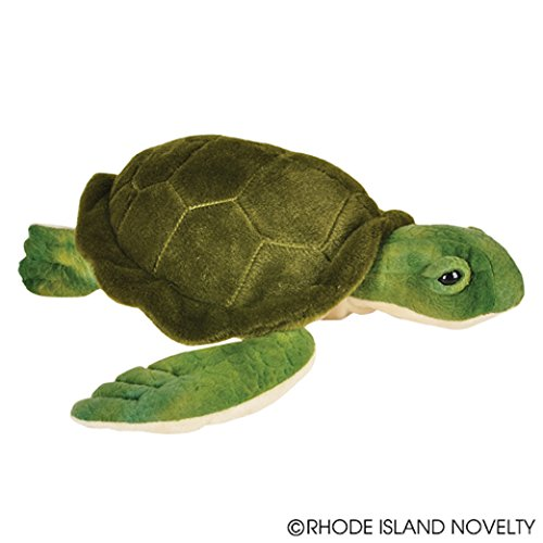 "One Soft Plush Sea Turtle Design Stuffed Animal - 12"" - 1"
