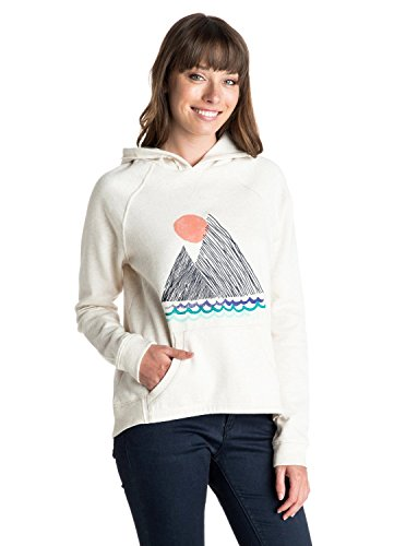 Roxy Winter Moonlight-Felpa con cappuccio, da ragazza Grigio grigio (Metro heather) L