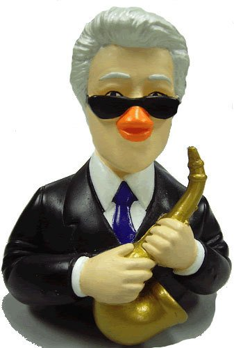 Collect The Special Bill Clinton Celebriduck, Perfect Bill Clinton Present or Bill Clinton Gift, For the Bill Clinton Fan Looking for Bill Clinton Fun Merchandise.