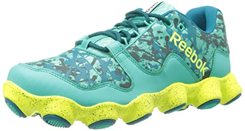 Reebok Women's ATV19 Ultimate Trail Running Shoe,Teal/Emerald/Timeless Teal/Solar Yellow/White,7.5 M US