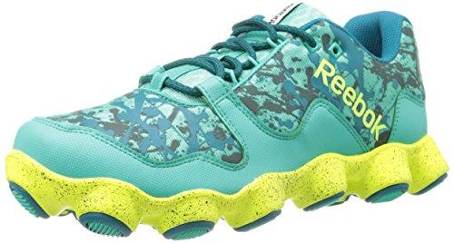 Reebok Women's ATV19 Ultimate Trail Running Shoe,Teal/Emerald/Timeless Teal/Solar Yellow/White,7.5 M US