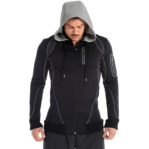 Zaggora Men's Men's Hooded Blazer - Black, Medium