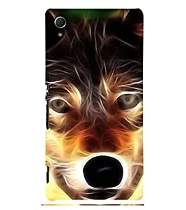 Angry Wolf 3D Hard Polycarbonate Designer Back Case Cover for Sony Xperia Z3+ :: Sony Xperia Z3 Plus :: Sony Xperia Z3+ dual :: Sony Xperia Z3 Plus E6533 E6553 :: Sony Xperia Z4