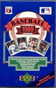 1989 Upper Deck High Series Baseball Card Unopened Hobby Box (Griffey, Johnson, Smoltz, Biggio RC's)