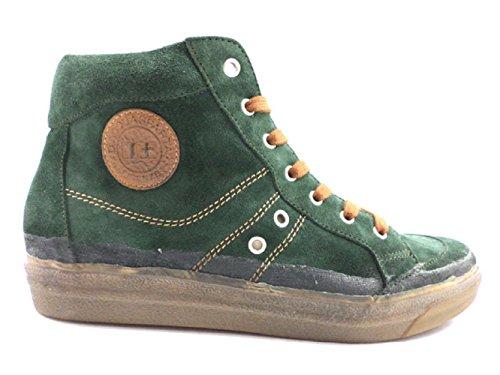 scarpe uomo D' ACQUASPARTA 40 EU sneakers verde camoscio KY125