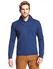 Blue Harbour Pure Lambswool Shawl Collar Jumper