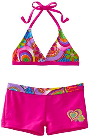 Laguna Big Girls'  Party Animal Bikini, Pink, 10
