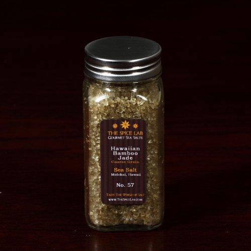 Hawaiian Bamboo Jade Sea Salt (Hanalei Green) (Coarse) - in a Spice Bottle