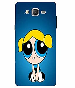 Snazzy Bubbles Printed Blue Hard Back Cover For Samsung Galaxy J5