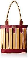 Fantosy Women's Handbag (Beige and Maroon) (FNB-379)