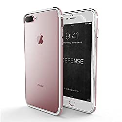 X-Doria Bumper Case for iPhone 7 Plus (Defense Edge) Anodized Aluminum & TPU Frame - Protective iPhone 7 Plus Case, Rose Gold