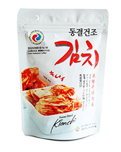 Freeze Dried Kimchi 4pcs X 20g(0.7oz), with Rice, Noodle, Soup, Korean Recipe Business trip Mountain climbing fishing Camping Travel Gift promotion Party food 동결건조김치 (Kimchi Rice compare prices)