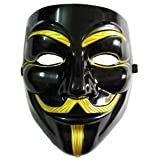 VIP version of V for Vendetta Mask / Anonymous / Guy Fawkes mask Mask Black & Gold (japan import)