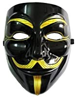VIP version of V for Vendetta Mask / Anonymous / Guy Fawkes mask Mask Black & Gold (japan import)