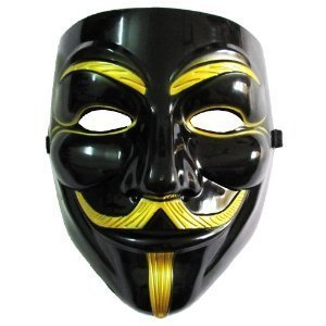VIP version of V for Vendetta Mask / Anonymous / Guy Fawkes mask Mask Black & Gold (japan import) by Rubies - 1