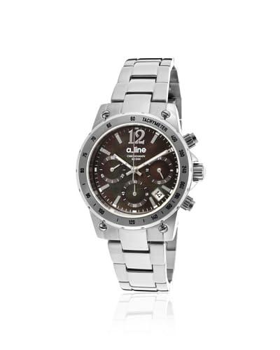 a_line Women's 80020-11MOP Liebe Silver/Black Mother of Pearl Watch