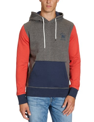 Jack and Jones Stall Men's Sweatshirt Grey Melange Large