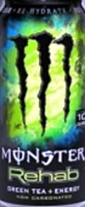 Monster Rehab Energy Drink, Green Tea, 15.5-Ounce Cans (Pack of 24)