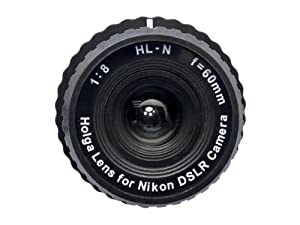 Holga Lens for Nikon D7100 D7000 D5200 D5100 D5000 D3200 D3100 D300s D300 D200 D90 D80 Black