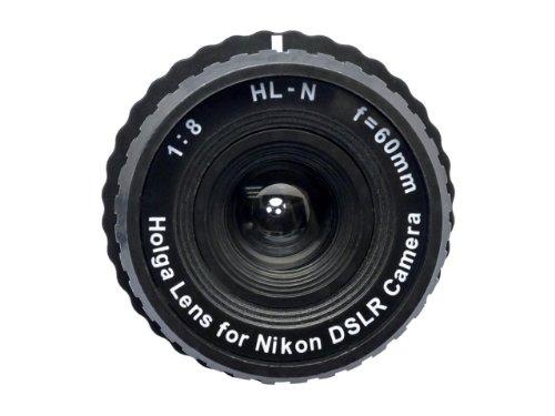 Holga Objektiv für Nikon D200 D100 D90 D80 D60 Black + 0.5X Weitwinkel