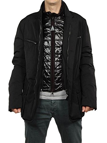 MONCLER DARWIN NERO giacca invernale piumino uomo-54