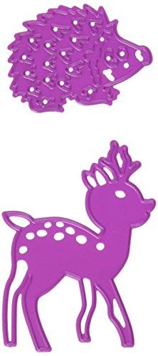 Cerfs et hérisson pochoir de découpe et d'embossage Die Crafts Joy!