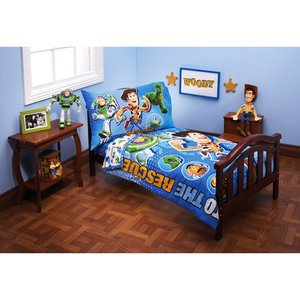 Toy Story Four Piece Toddler Bed Set'' Toy Story to the Rescue'' - 1
