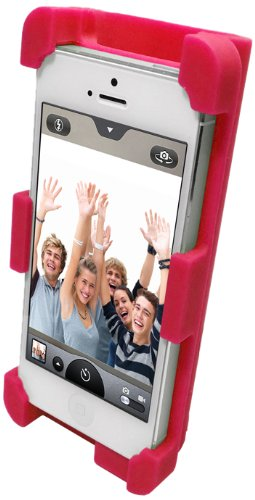 Datexx Instage Iphone Silicone Stand And Acoustic Amplifier For Iphone 5/5S/5C, Red - Speakers - Retail Packaging - Red