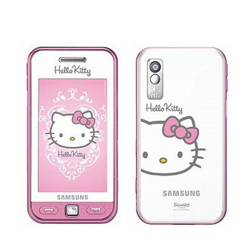 Hello Kitty Limited Edition Samsung S5230 Unlocked GSM Cell Phone with 3MP Camera, MP3 Player, FM radio, Touch Screen, Bluetooth, HTML browser and MicroSD Slot–International (Pink)