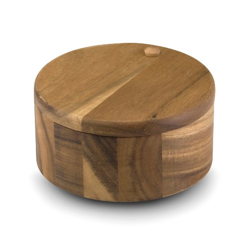 Paula Deen Signature Pantryware Wooden Round 2-Compartment Salt Box