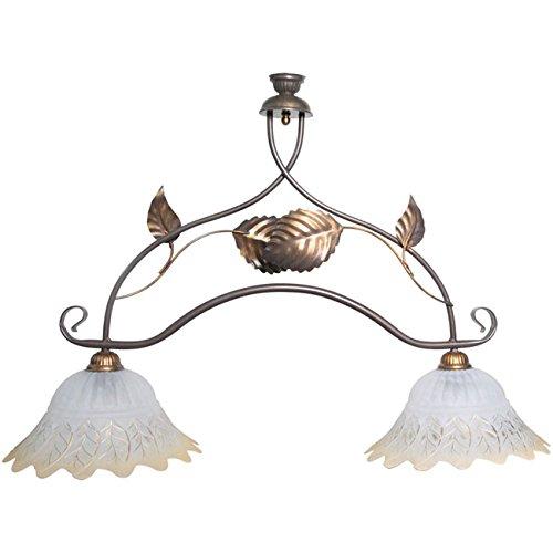 Lampadario a sospensione 2 luci bilancia in metallo classico di design