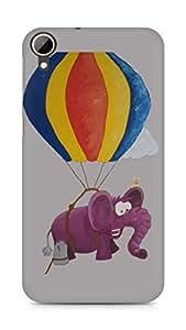 Amez designer printed 3d premium high quality back case cover for HTC Desire 828 (Purple elephant)