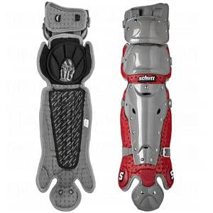 Schutt Sports S2 Multi-Flex Baseball/Softball Leg Guard, 16-Inch, Scarlet/Gray