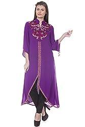 Rinku Sobti Women's Tunic (MAR-A21_Purple_Medium)