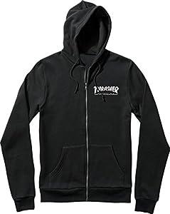 Thrasher Skate Mag Black Small Zip Hooded Sweatshirt