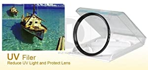 High Quality Professional Performance 49mm UV Filter - Low profile Ring - High Index Optical Glass - Maximum Light Transmission - Perfect For Canon, Nikon, Olympus, Sony, Pentax And Many More Models - Cheaper Than Replacing Your Lens - Ideal Lens Protection - Double Threaded To Except Other Adapters Or Lens Hoods