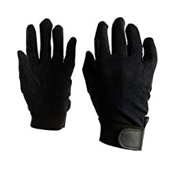 Dublin Good Hands Track Riding Gloves - Black, Small