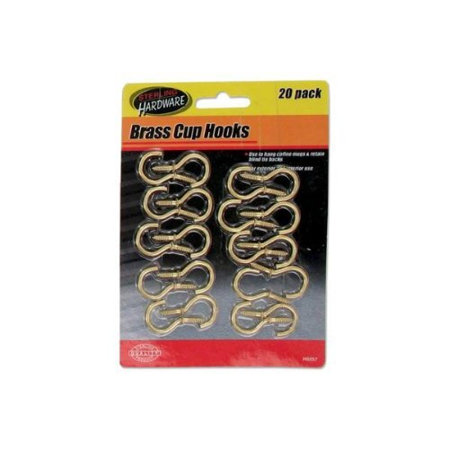 20 Pc. Brass Cup Hooks Case Pack 48