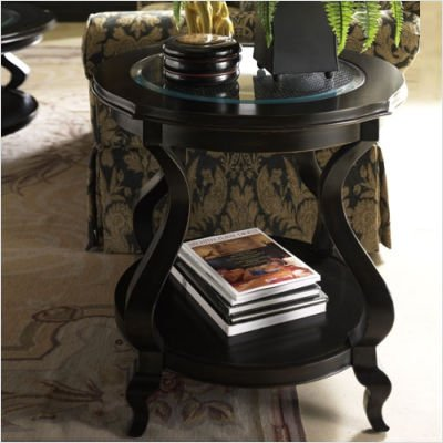 Cheap Hammary T1056535-22 Avignon Round End Table in Satin Black (T1056535-22)